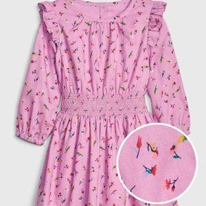 NWT Toddler Gap Girl Ruffle Smock Waist Dress 4